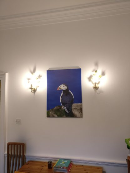 puffin canvas on wall