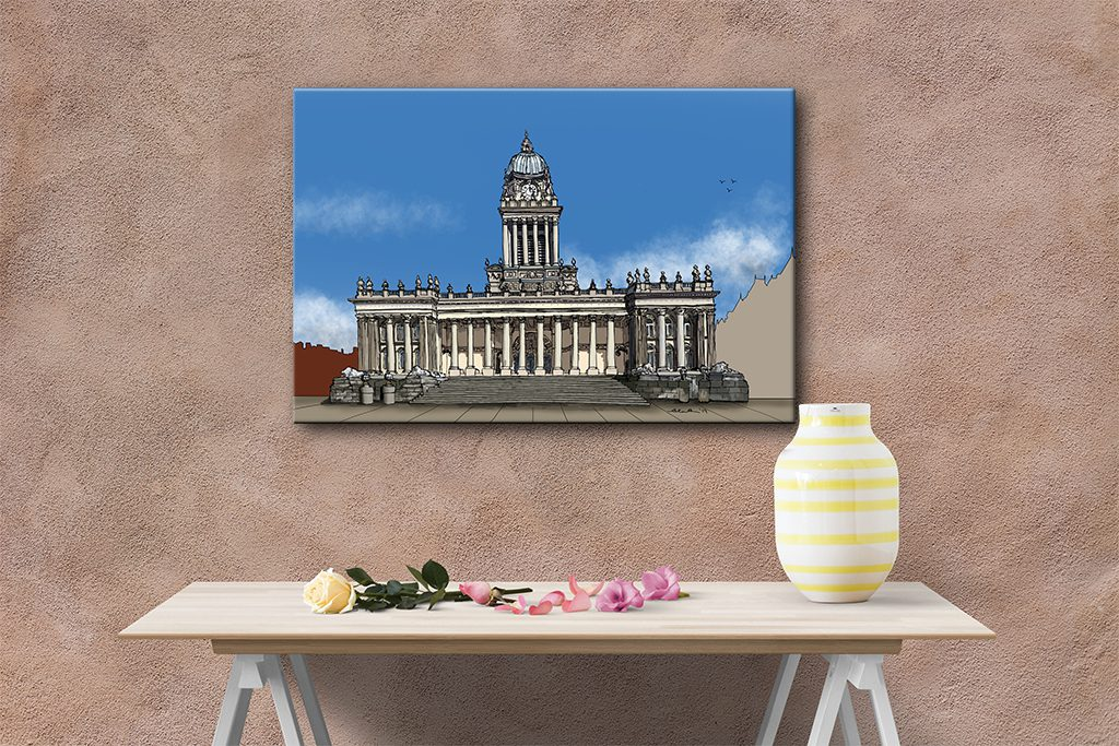 canvas of leeds town hall