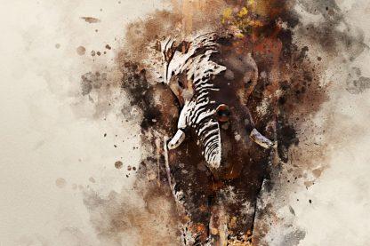 Elephant waterolour effect